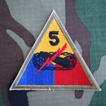 Patch, 5th Armored Division, Color, Cut Edge