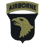 Patch, 101st Airborne Division With Airborne Tab, OCP / MultiCam® / Scorpion with Velcro®, One Piece