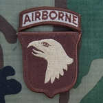 Patch, 101st Airborne Division with Airborne Tab Spice Brown