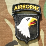 Patch, 101st Airborne Reversed Combat with Airborne Tab Color