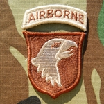 Patch, 101st Airborne Reversed Combat with Airborne Tab Desert