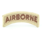 Patch, Airborne Tab, Color Desert Brown