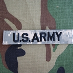 ACU Digital Embroidered U.S. Army Insignia, Nametape Tags with Velcro®