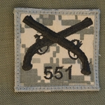 Helmet Patch, 551st Military Police Company, ACU