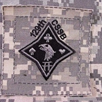 Helmet Patch, 129th Combat Sustainment Support Battalion, ACU, Type 1
