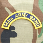 Patch, 144th Army Band Tab Color