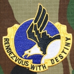 Patch, Reunion, 101st Airborne, RENDEZVOUS WITH DESTINY
