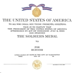 Certificate, Distinguished Service Cross, Army