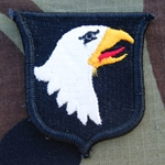 Patch, 101st Airborne Reversed Combat without Airborne Tab Color