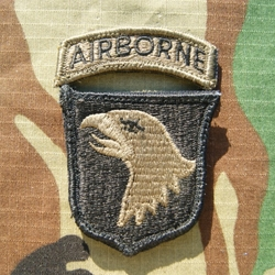 Patch, 101st Airborne Division With Tab, Subdued ACU with Velcro®