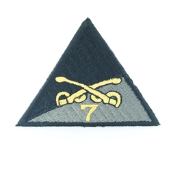 Helmet Patch: 7th Squadron 17th Cavalry Regiment, Black, Type 1