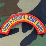 34th Army Band Tab, A-1-1027