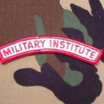 Military Institute Tab, A-1-000
