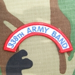 338th Army Band Tab, A-1-1032, Old Type
