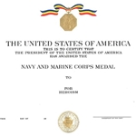 Navy and Marine Corps Medal, Navy, Type 1