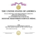 Defense Meritorious Service Medal, Department of Defense