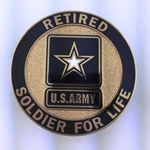 Badge, Identification, Soldier for Life, U.S. Army