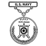 Badge, Qualification, Fleet Rifleman, Navy, Pendant and Suspension Bar