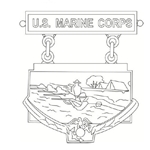 Badge, Qualification, Inter-Division Rifle Team, U.S. Marine Corps, MIL-DTL-3628/45G