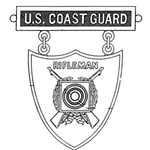 Badge, Qualification, Excellence in Competition, Rifleman, U.S. Coast Guard, MIL-DTL-3628/77C