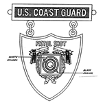 Badge, Qualification, Excellence in Competition, Pistol Shot, U.S. Coast Guard