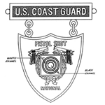 Badge, Qualification, Excellence in Competition, Pistol Shot National, U.S. Coast Guard