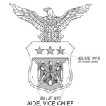 Insignia, Aide, Vice Chief, National Guard Bureau, U.S. Air Force, MIL-DTL-15665/114