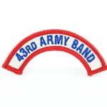 A-1-1083, 43rd Army Band Tab