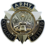 Lapel Button, Civilian Retired, U.S.Army, MIL-DTL-11484/416