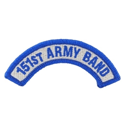 151st Army Band Tab, A-4-1075