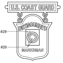 Badge, Qualification, Distinguished Marksman, U.S. Coast Guard