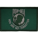 Patch, Prisoner of War / Missing in Action, Bottle Green/Silver Gray with Velcro®