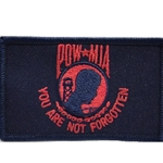 Patch, Prisoner of War / Missing in Action, Dark Blue/Scarlet with Velcro®