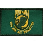 Patch, Prisoner of War / Missing in Action, Dark Green/Yellow with Velcro®
