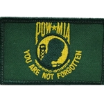 Patch, Prisoner of War / Missing in Action, Jungle Green/Yellow with Velcro®