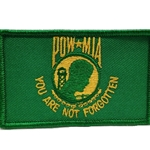 Patch, Prisoner of War / Missing in Action, Light Green/Yellow with Velcro®