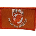 Patch, Prisoner of War / Missing in Action, Orange/White with Velcro®