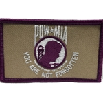 Patch, Prisoner of War / Missing in Action, Purple/White with Velcro®