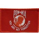 Patch, Prisoner of War / Missing in Action, Red/White with Velcro®