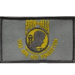 Patch, Prisoner of War / Missing in Action, Silver Gray/Golden Yellow with Velcro®