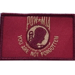 Patch, Prisoner of War / Missing in Action, Soldier Red/Bronze with Velcro®