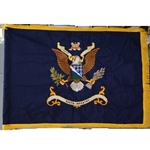 Flag, Organizational, 506th Infantry Regiment, Rayon, 3 feet by 4 feet with yellow fringe
