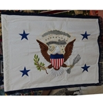 Vice President of the United States Flag, 3 Feet X 4 Feet, Hand Embroidery, Rayon, with Fringe, SOLD!!