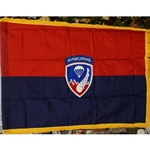 Flag, Organizational, 187th Airborne Regimental Combat Team, Rayon, 3 feet by 4 feet with yellow fringe