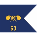 Guidons, 63rd Chemical Company, 20-inch hoist by a 27-inch fly