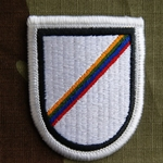 Beret Flash, LRSD, Co D, 124th Military Intelligence Battalion, Merrowed Edge