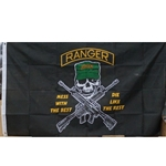 Flag, Ranger, Mess with the Best, 3X5 Printed Polyeste