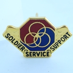 DUI, 8th Personnel Command, Motto, SOLDIER SERVICE SUPPORT