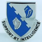 DUI, 14th Military Intelligence Battalion, Motto, SUPPORT BY INTELLIGENCE
