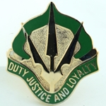 DUI, 15th Military Police Brigade, D-4055, Motto: DUTY JUSTICE AND LOYALTY